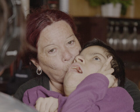 Patricia Aguirre with her daughter Abigail